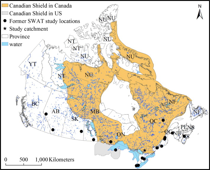 Swat cs revision and testing of swat for canadian shield locations of this study star other swat studies on the canadian shield 3 and select studies in the surrounding regions studies shown in this figure sciox Images
