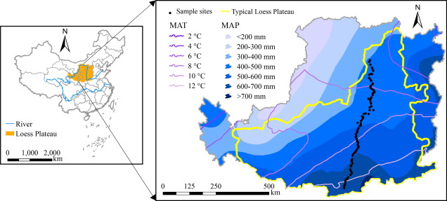 Regional temporal persistence of dried soil layer along