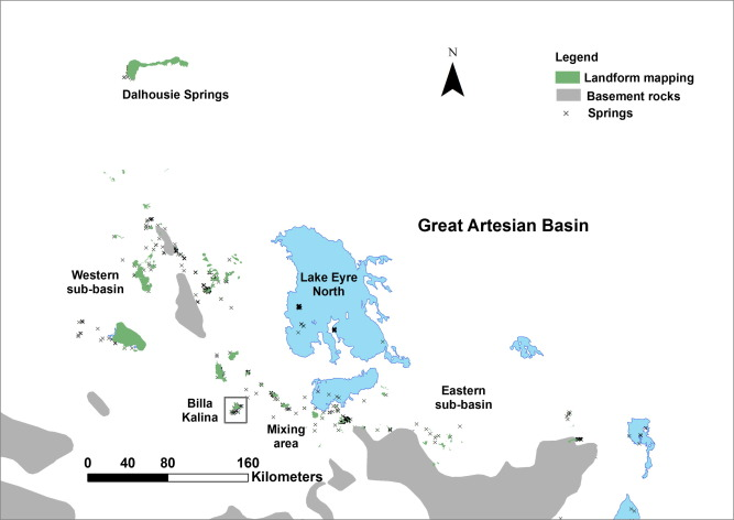Map Of Australia Great Artesian Basin.Determining Vertical Leakage From The Great Artesian Basin