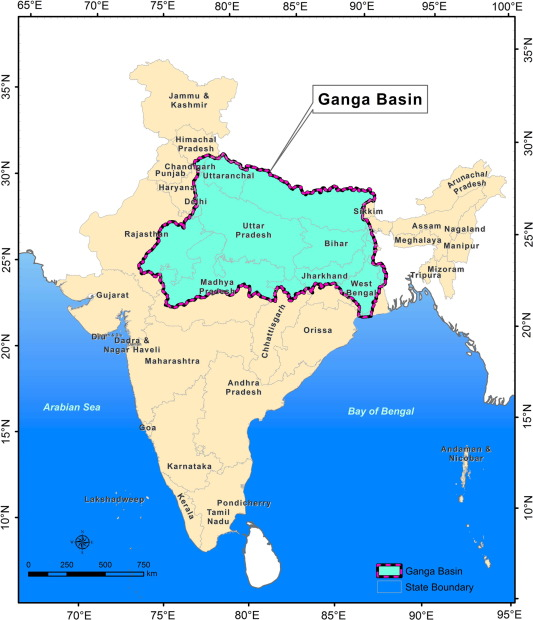 Regional scale groundwater modelling study for Ganga River basin