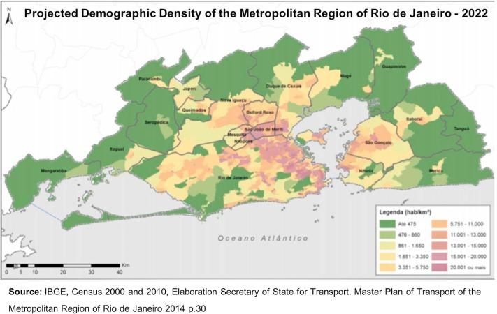 Water supply system in the Rio de Janeiro Metropolitan
