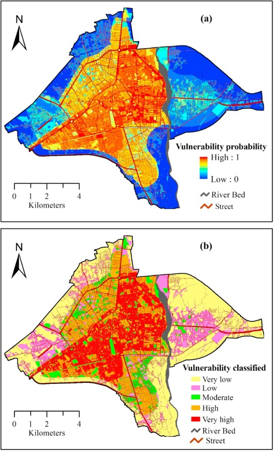 Urban flood risk mapping using the GARP and QUEST models: A