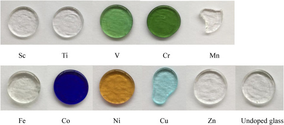 Optical properties of 3d transition metal ion-doped