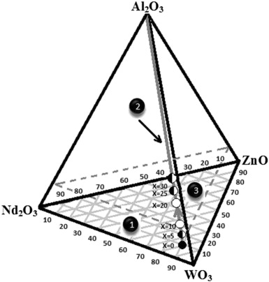 Glass Formation And Structure Of Glasses In The Wo3znond2o3al2o3