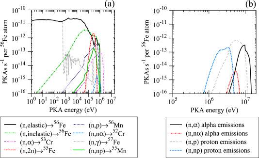 Energy spectra of primary knock-on atoms under neutron