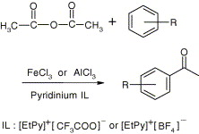 Friedel-Crafts acylation reactions in pyridinium based ionic liquids