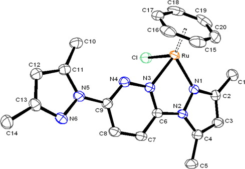 Ruthenium Half Sandwich Complexes With Tautomerized Pyrazolyl