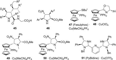 Coinage metal complexes as chiral catalysts for 1,3-dipolar