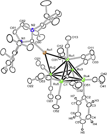 Phenylgold Complexes Of Ru6 And Ru5 Carbonyl Clusters
