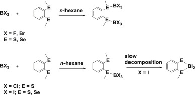 Systematics Of Boron Halide Complexes With Dichalcogenoether