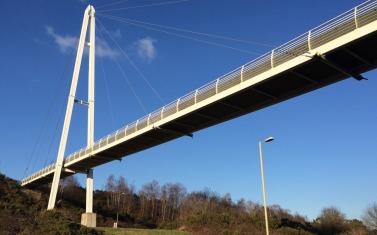 Footbridge system identification using wireless inertial
