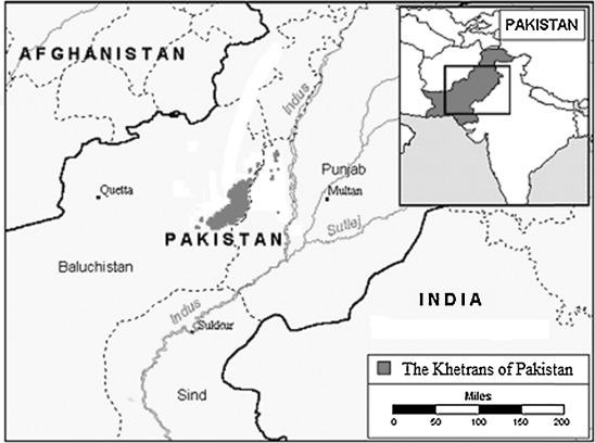 Language of the Khetrans of Barkhan of Pakistani Balochistan
