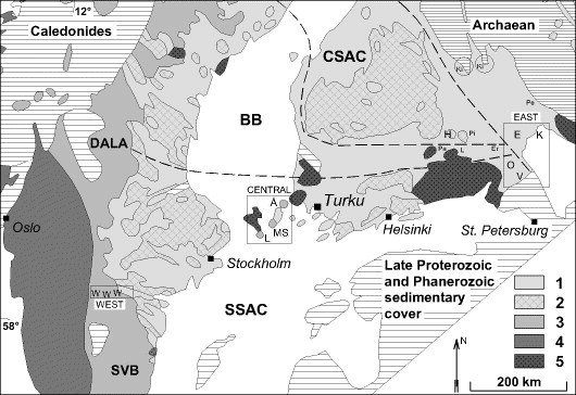 1 8 Ga Magmatism In The Fennoscandian Shield Lateral Variations
