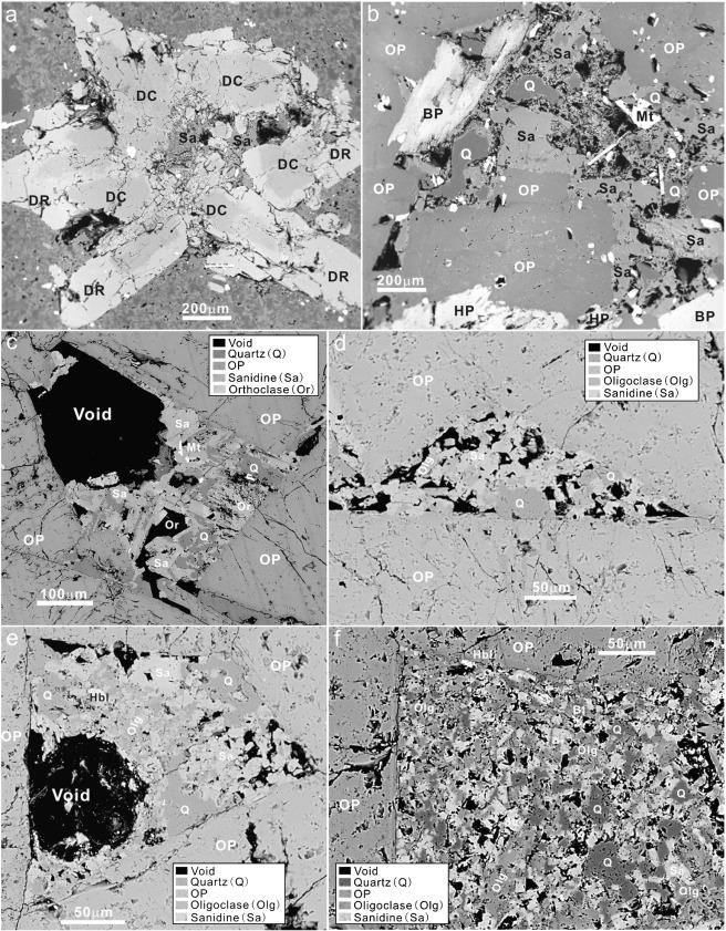 Accumulated phenocrysts and origin of feldspar porphyry in