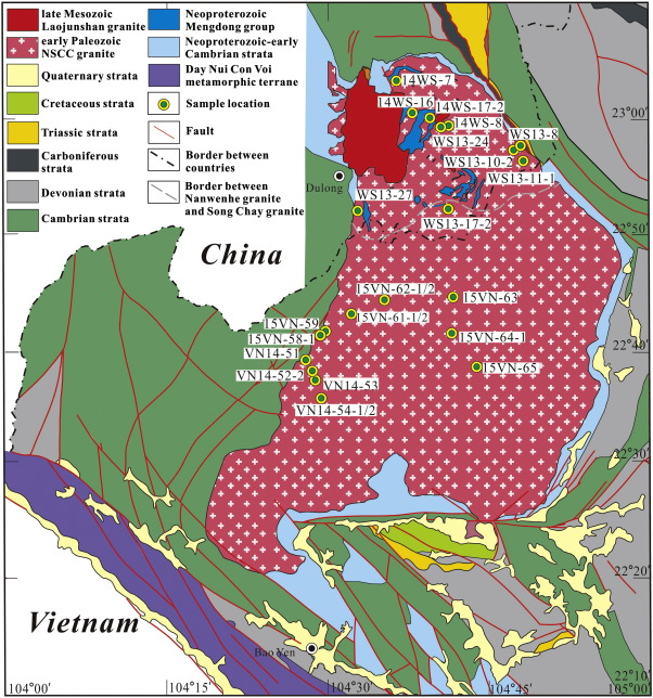Sources of the Nanwenhe - Song Chay granitic complex (SW