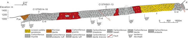 Carboniferous volcanic rocks associated with back-arc