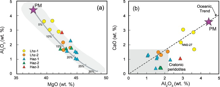 Age and composition of the subcontinental lithospheric