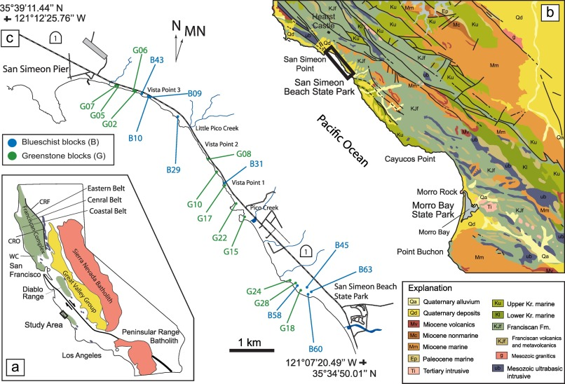 Cataclastic deformation and metasomatism in the subduction ... on south el monte map, pismo beach map, moonstone beach map, yorba linda map, morro bay state park map, hearst castle map, pico rivera map, santa cruz map, van nuys map, hearst mansion map, casmalia map, carmel bay map, santa susana pass map, cayucos map, gorda map, lake san antonio map, yosemite national park map, mission san luis obispo map, turlock map,