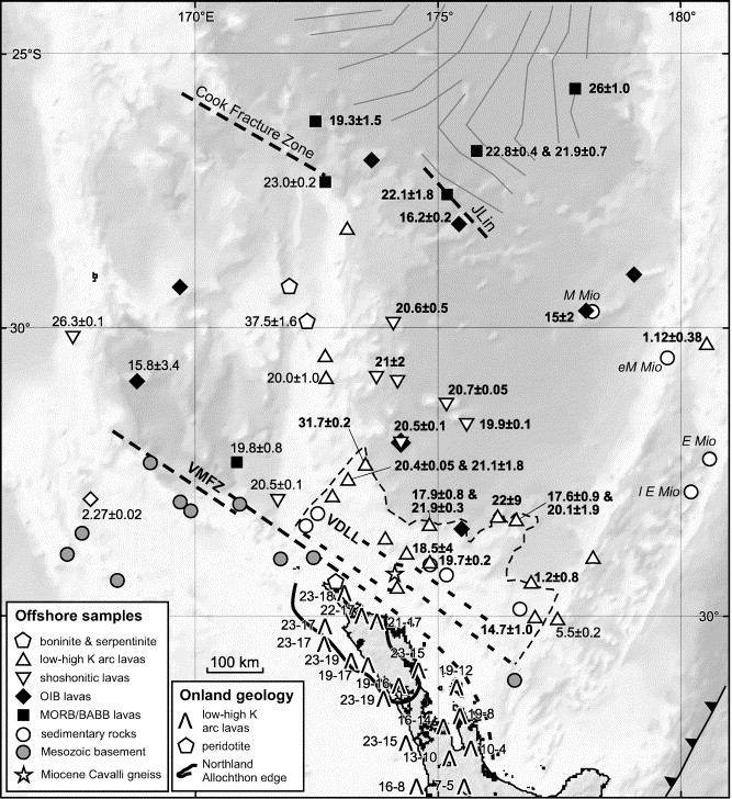 Oligocenemiocene Tectonic Evolution Of The South Fiji Basin And