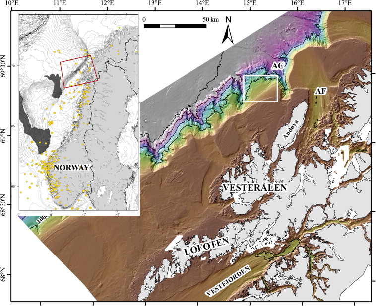 Stability Mobility And Failure Mechanism For Landslides At The - Vesteralen norway map
