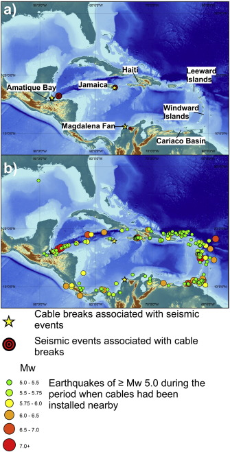 Which earthquakes trigger damaging submarine mass movements
