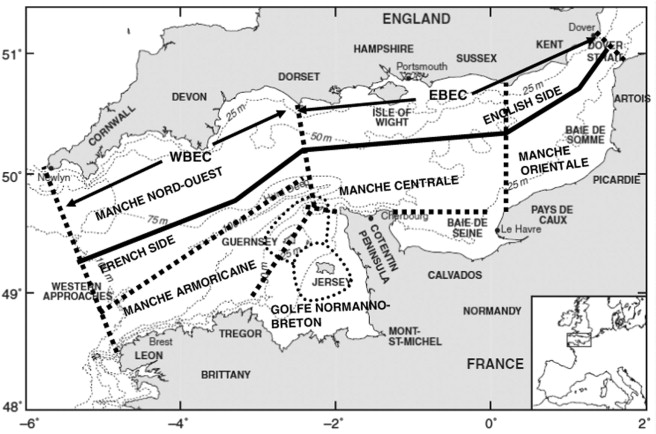 Are the eastern and western basins of the english channel two a map of the english channel from cabioch 1968 and paphitis et al 2010 wbec western basin of the english channel ebec eastern basin of the english ccuart Images