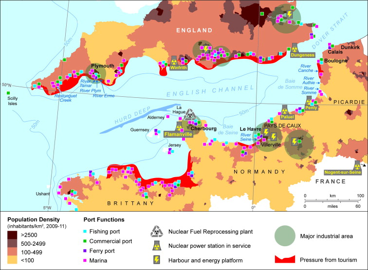 The English Channel Contamination status of its transitional and