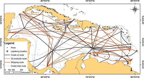 Potential oil spill risk from shipping and the implications