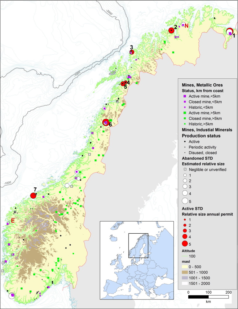 Submarine and deep-sea mine tailing placements: A review of current