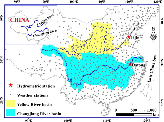 Variation Of Dissolved Organic Carbon Transported By Two Chinese - Chang river world map