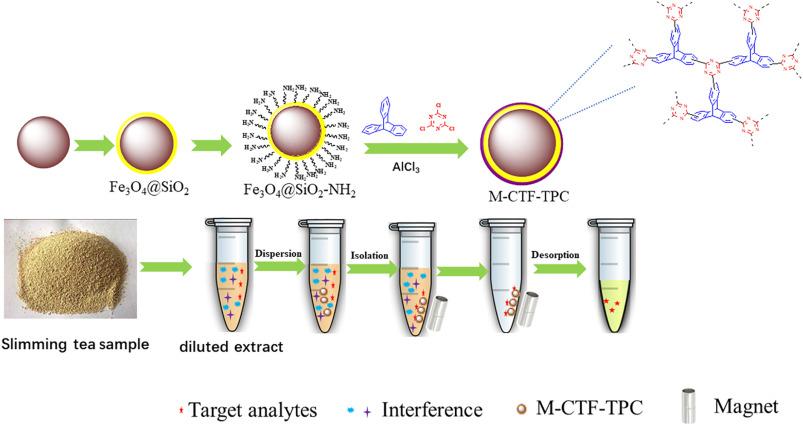 Magnetic triptycene-based covalent triazine frameworks for