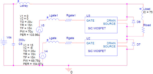 Analytical PSpice model for SiC MOSFET based high power