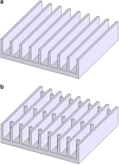 Investigation of planted pin fins for heat transfer