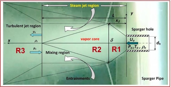 Experimental investigation of steam condensation in water