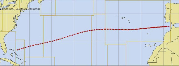 Ship weather routing optimization with dynamic constraints