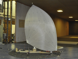 Performance enhancement of downwind sails due to leading edge