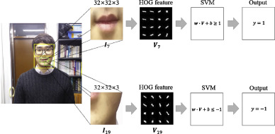 Robust lip detection based on histogram of oriented gradient