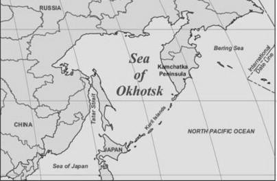Ali Baba's Cave': The Sea of Okhotsk's Contentious Triangle ... on shikoku japan map, hokkaido japan map, indonesia japan map, kuril islands japan map, alaska japan map, tsugaru strait japan map, pacific ocean japan map, nansei japan map, japan korea strait map, tokyo japan map, akita japan map, sakhalin japan map, russia japan map, narita japan map, mount fuji japan map, iwo jima island japan map, kyoto japan map, japan japanese alps map, okinawa japan map, china japan map,