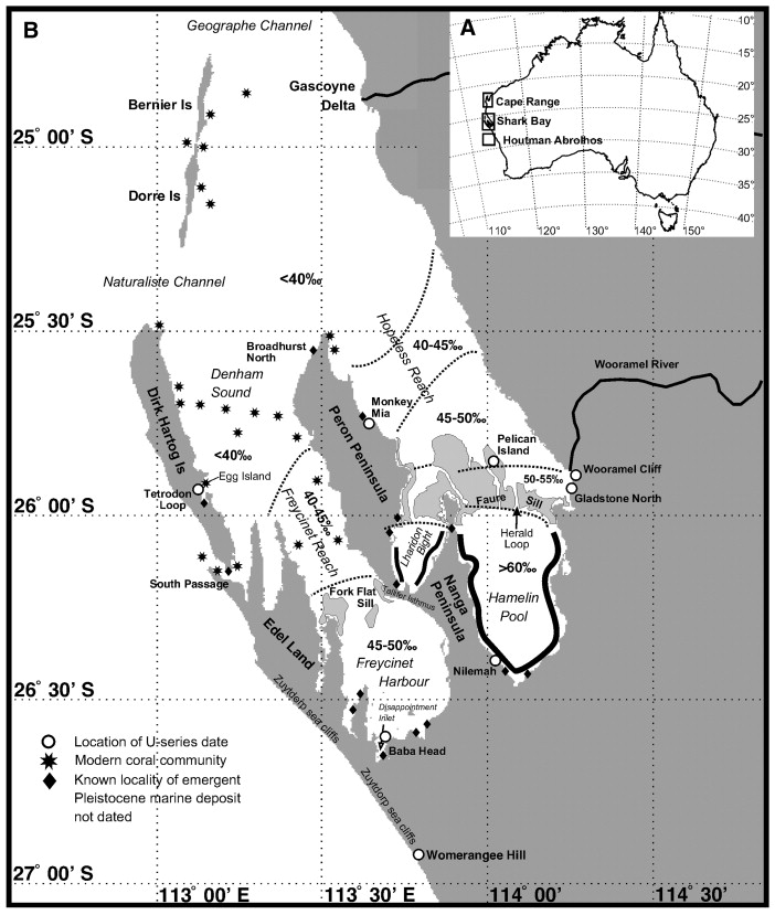 U Series Evidence For Widespread Reef Development In Shark Bay