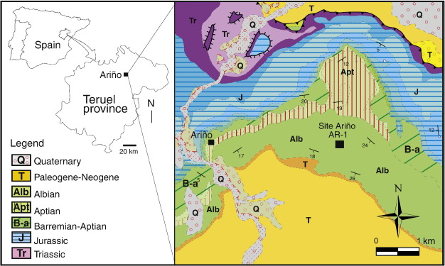 Teruel Spain Map.Dietary And Environmental Implications Of Early Cretaceous Predatory