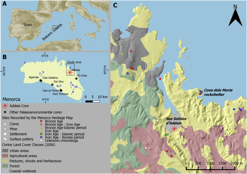 The onset of islandscapes in the Balearic Islands A studycase of