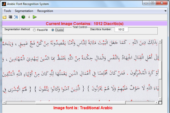 Arabic font recognition based on diacritics features - ScienceDirect