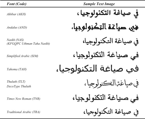 Open-vocabulary recognition of machine-printed Arabic text using