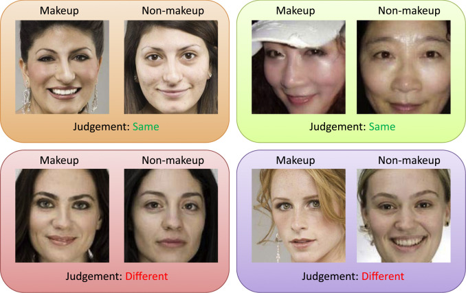 A weakly supervised method for makeup-invariant face verification