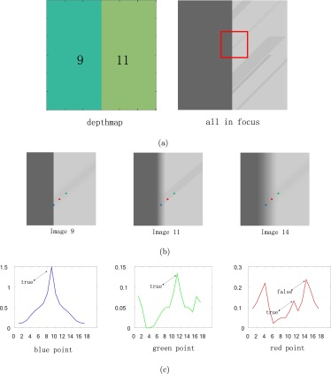 All-in-focus with directional-max-gradient flow and labeled