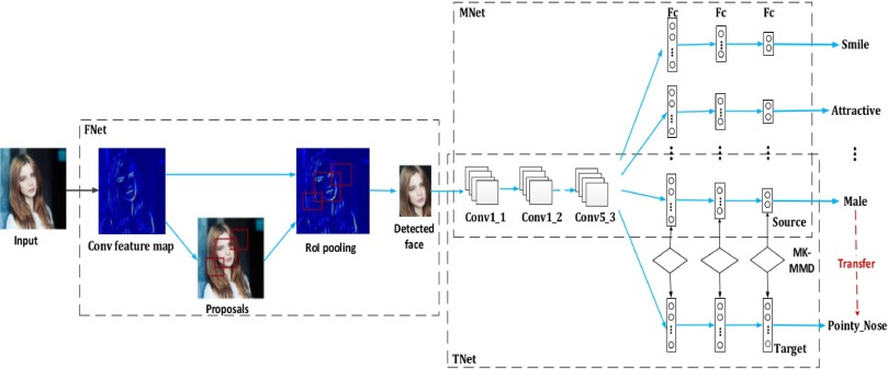 Multi-label learning based deep transfer neural network for facial