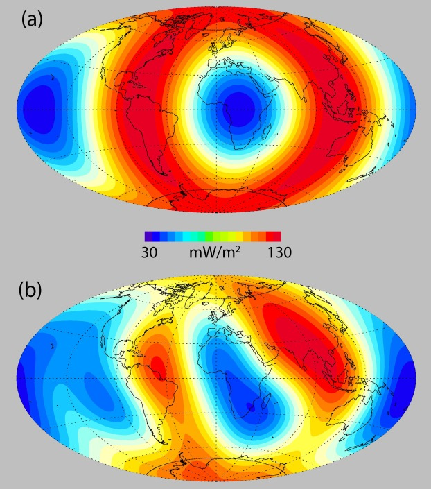 Dynamo tests for stratification below the core mantle boundary core mantle boundary heat flux patterns l2 a and l4 b sciox Gallery