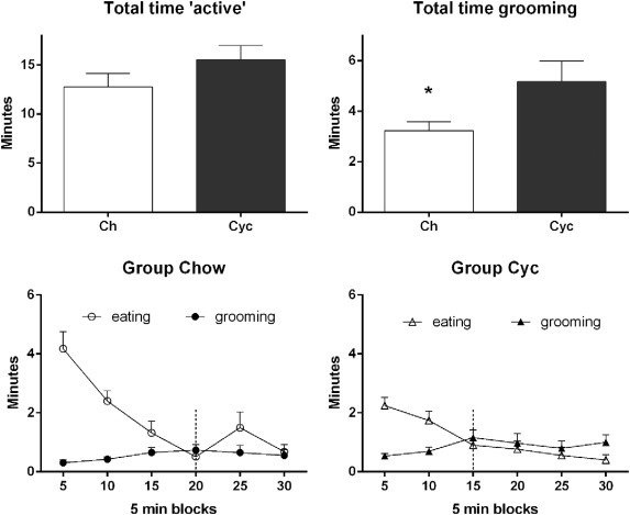 Effects of long-term cycling between palatable cafeteria diet and