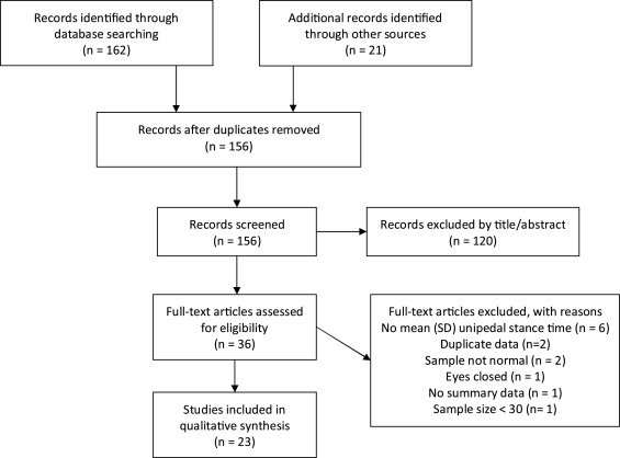 Unipedal balance test for older adults: a systematic review and meta