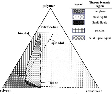 Phase Diagram Of Ternary Polymeric Solutions Containing Nonsolvent